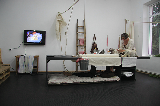 J Morgan Puett within first Tbilisi Triennial, installation view, 2013